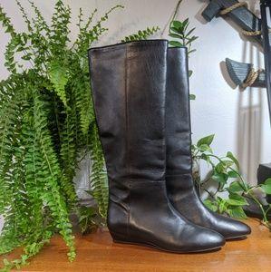 Loeffler Randall 7 1/2 B Leather Pull on Boots